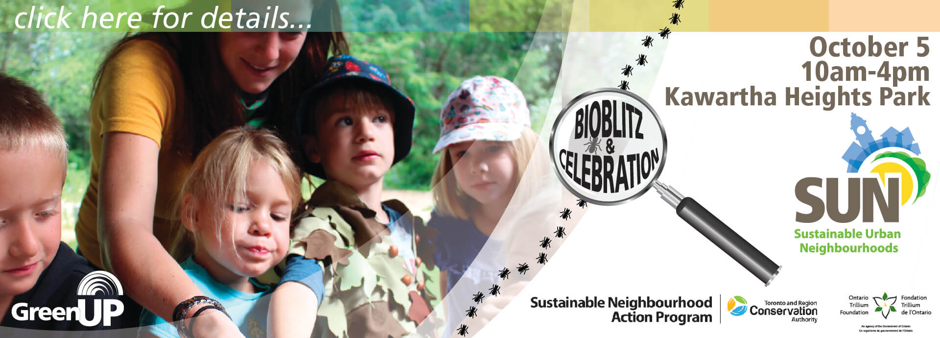 Event Graphic for October 5 Bioblitz and Celebration of SUN