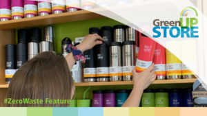 Zero Waste Feature image showing shelves full of TKWide by Klean Kanteen