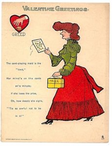 """A """"vinegar valentine"""" by Raphael Tuck dated 1906. (Public domain image.)"""