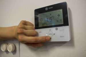 Thermostat control pannel